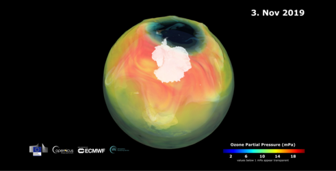 Ozone hole set to close
