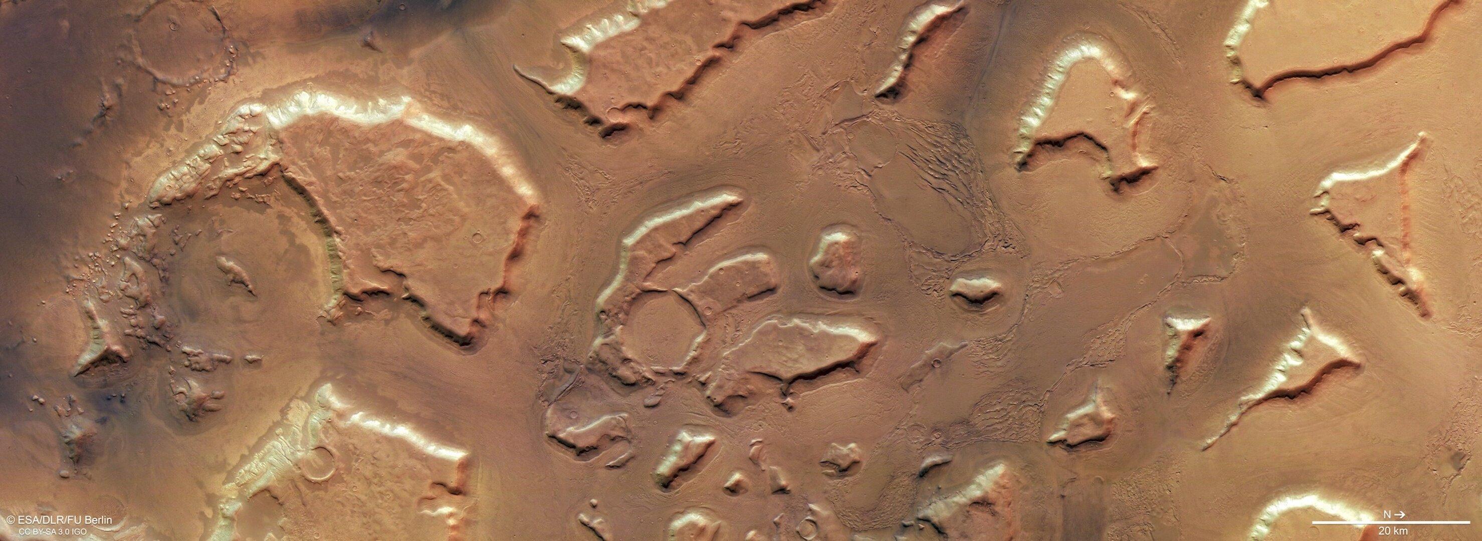 Plan view of Deuteronilus Mensae