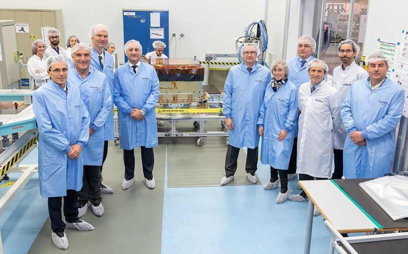 Quantum Project Partners inspect the active array antenna