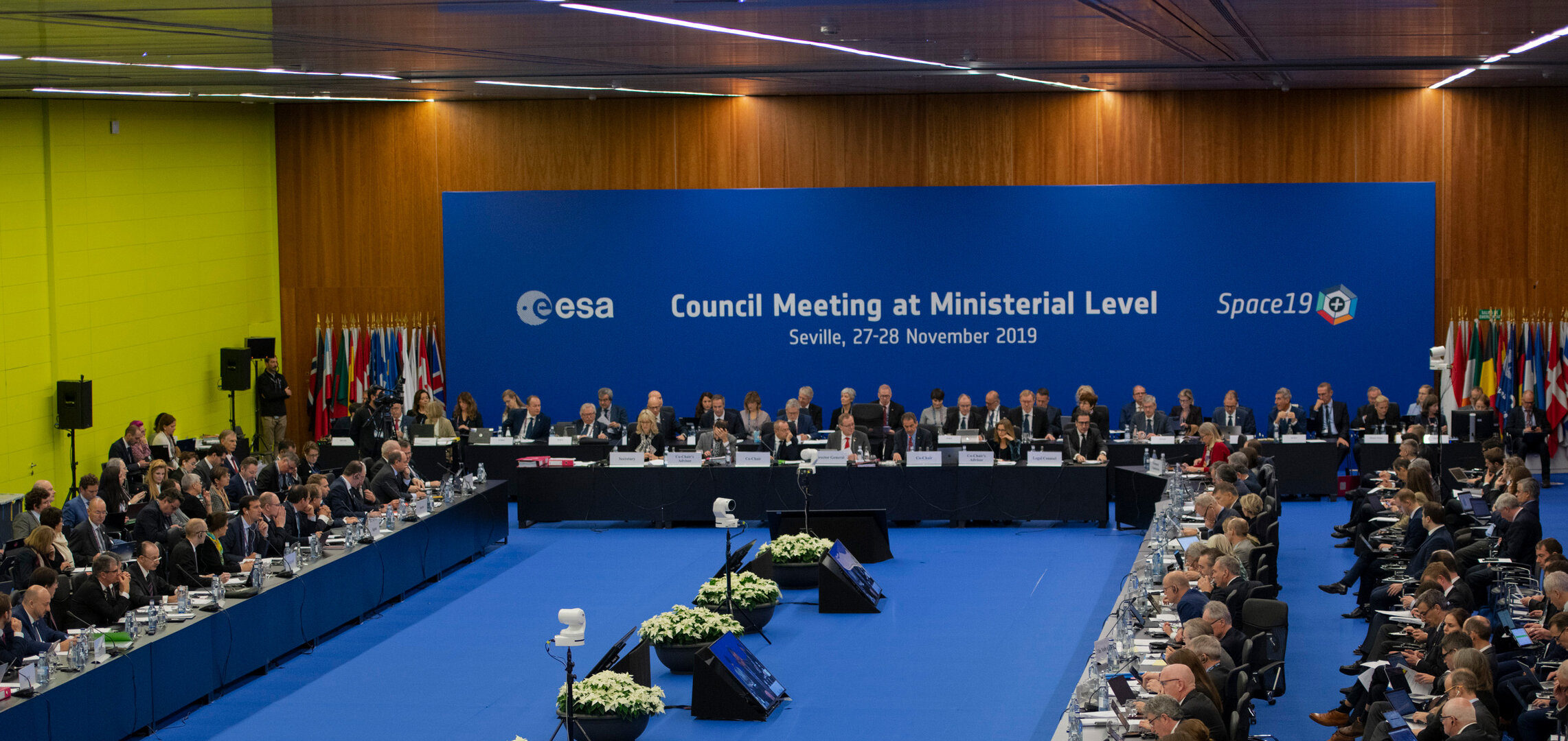 Space19+, the ESA Council at Ministerial level, in Seville, Spain
