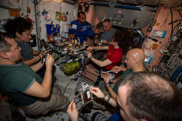 Full house on the Space Station