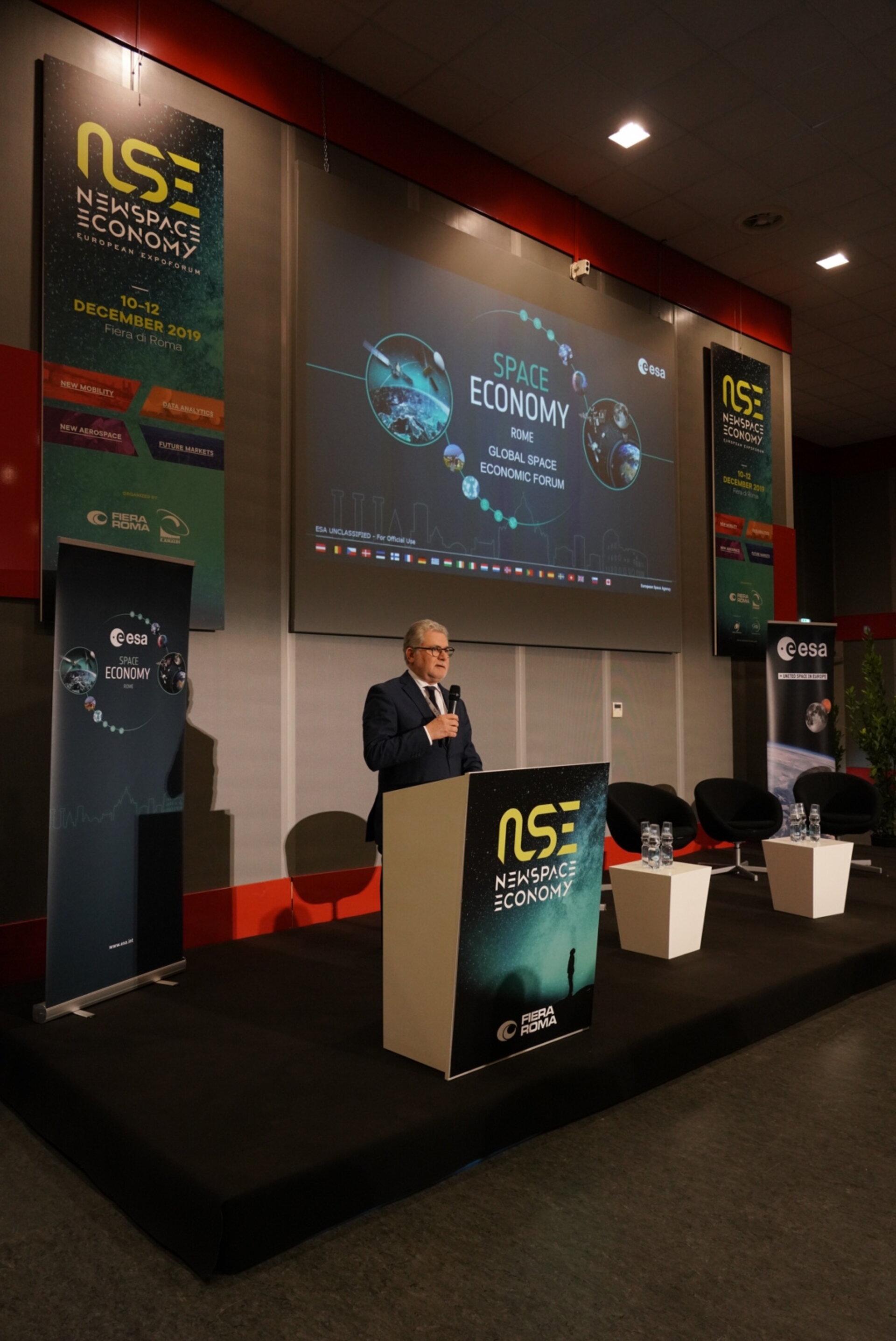 Eric Morel de Westgaver, Director of Industry, Procurement and Legal Services, ESA