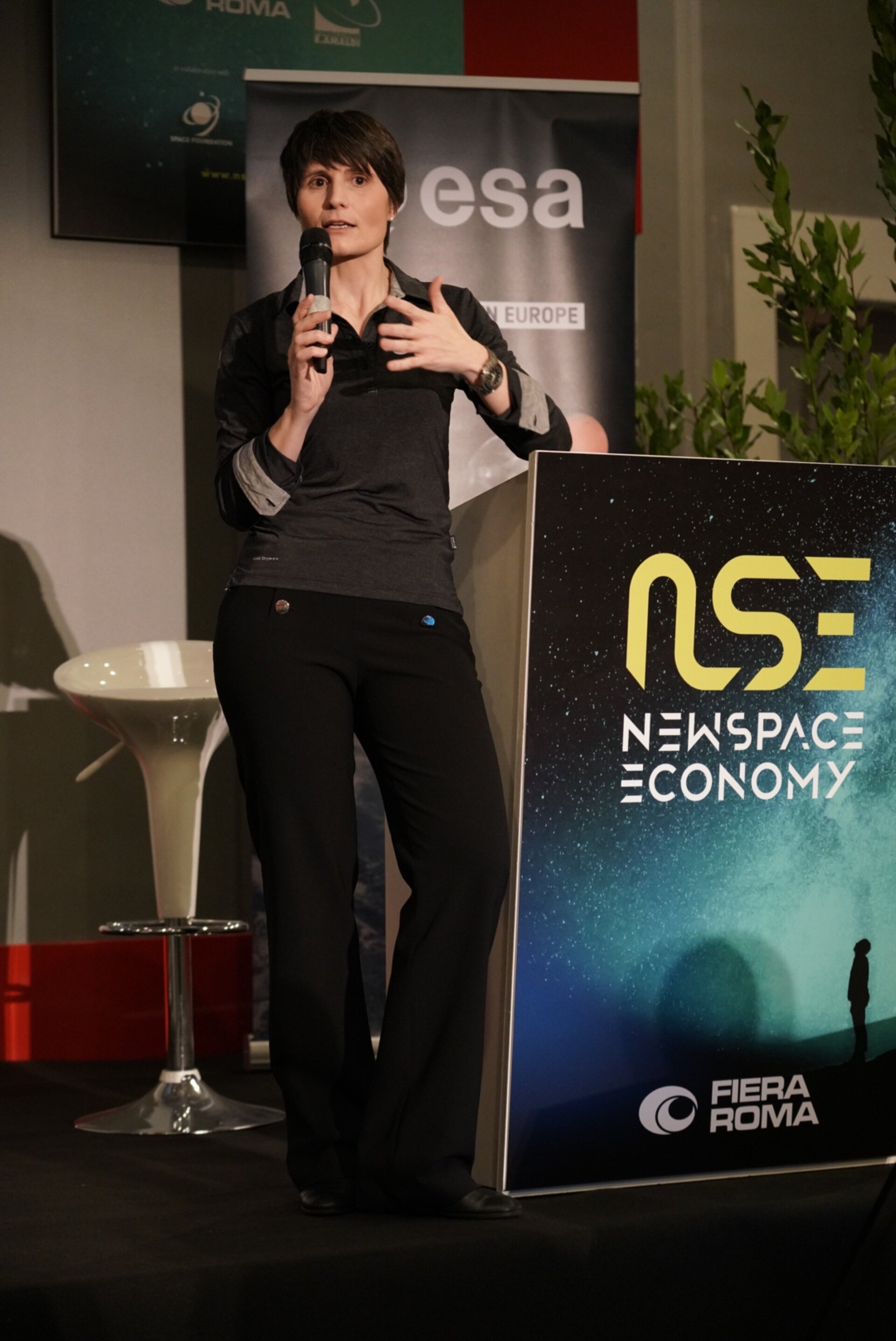 ESA Astronaut Samantha Cristoforetti presented the Benefits of Space on Economy and Society during the Global Space Economic Forum