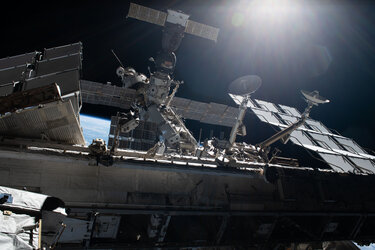 International Space Station with Soyuz