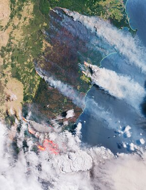 Smoke and flames in Australia