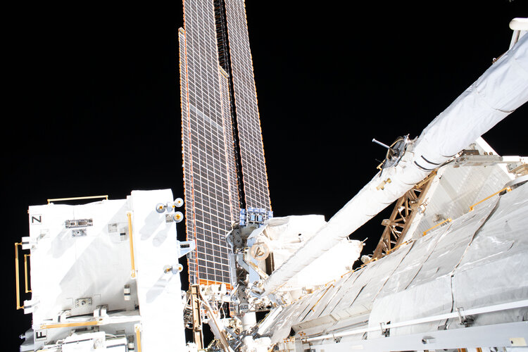Spacewalk solar arrays