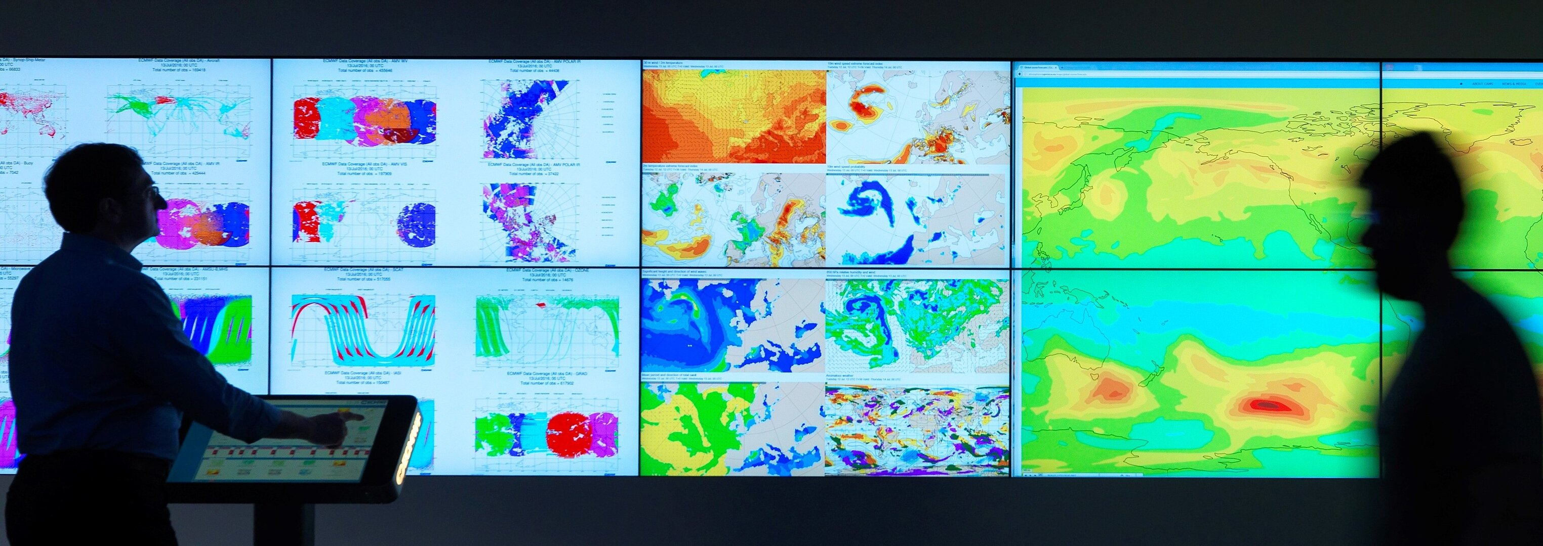 Weather room at ECMWF