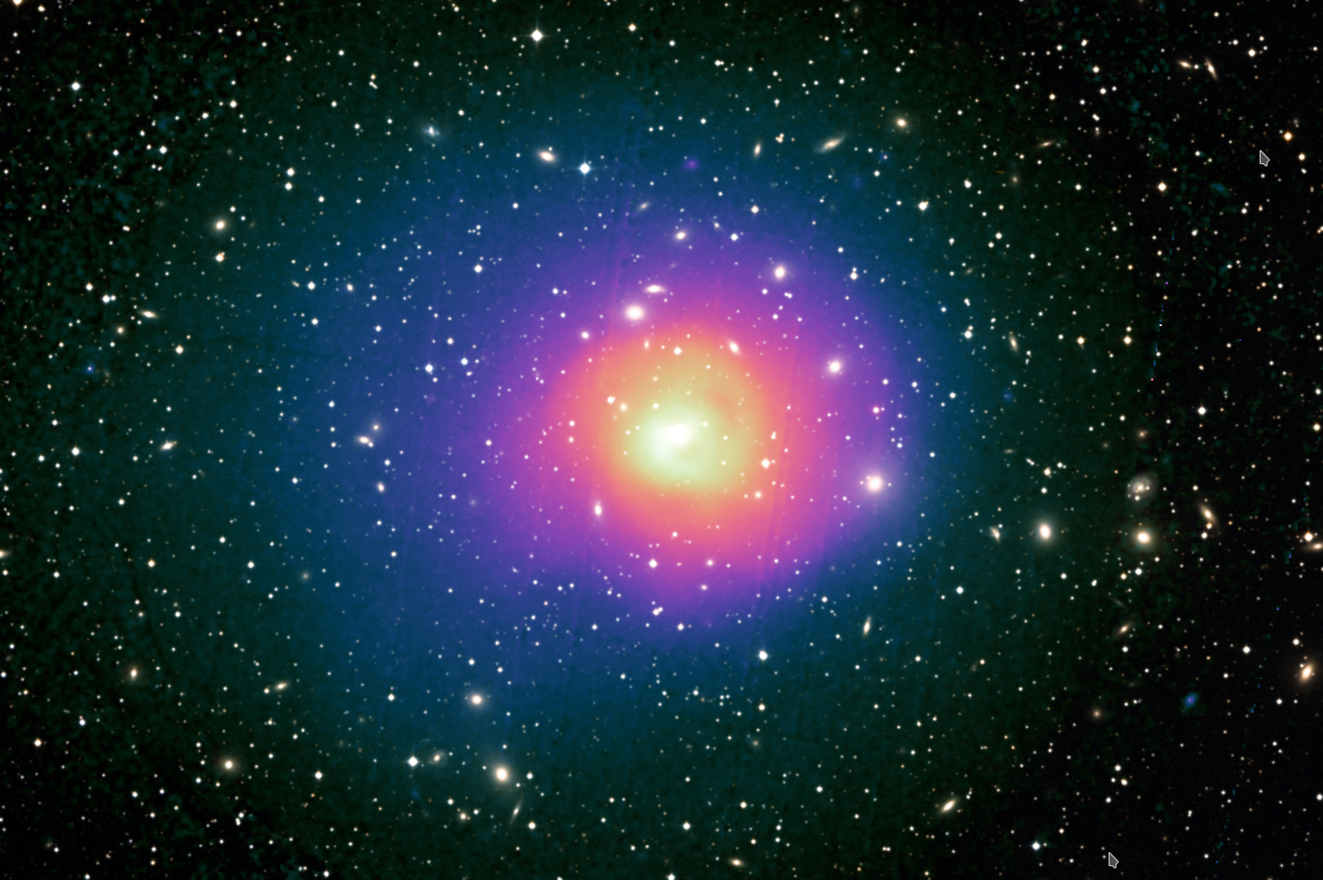 X-ray and optical view of the Perseus galaxy cluster