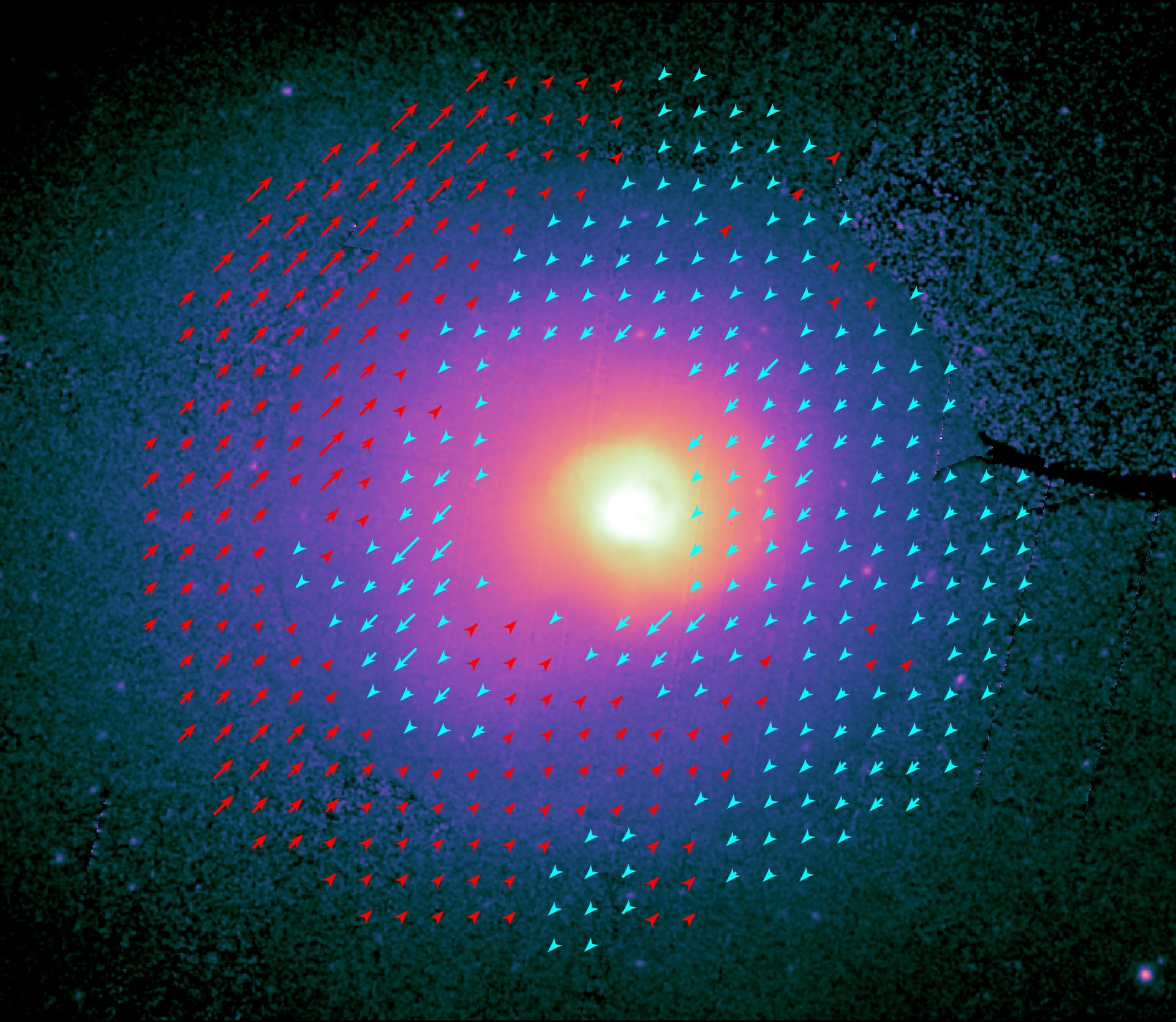 Varme intergalaktiske gassers bevægelse i Koma-galaksehoben