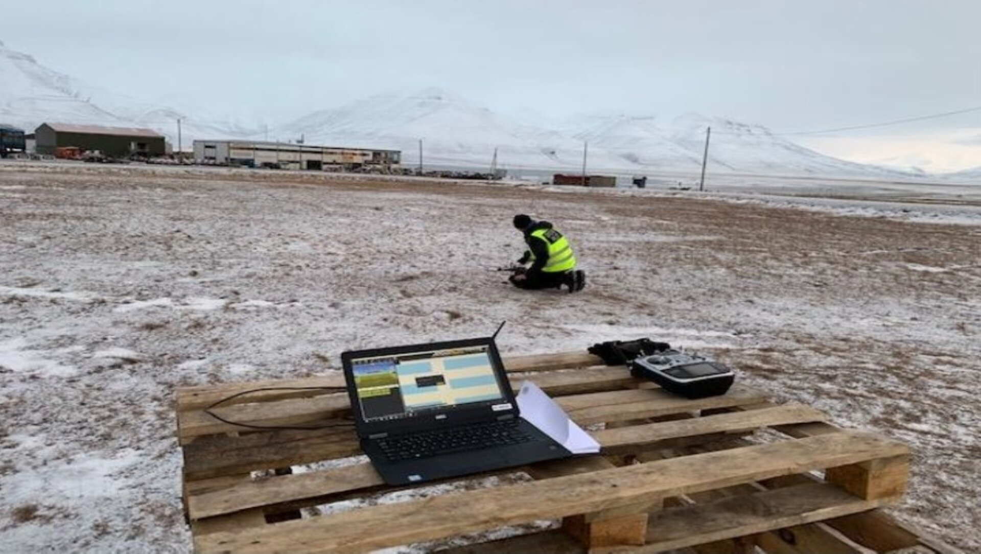 Drone testing in the Arctic