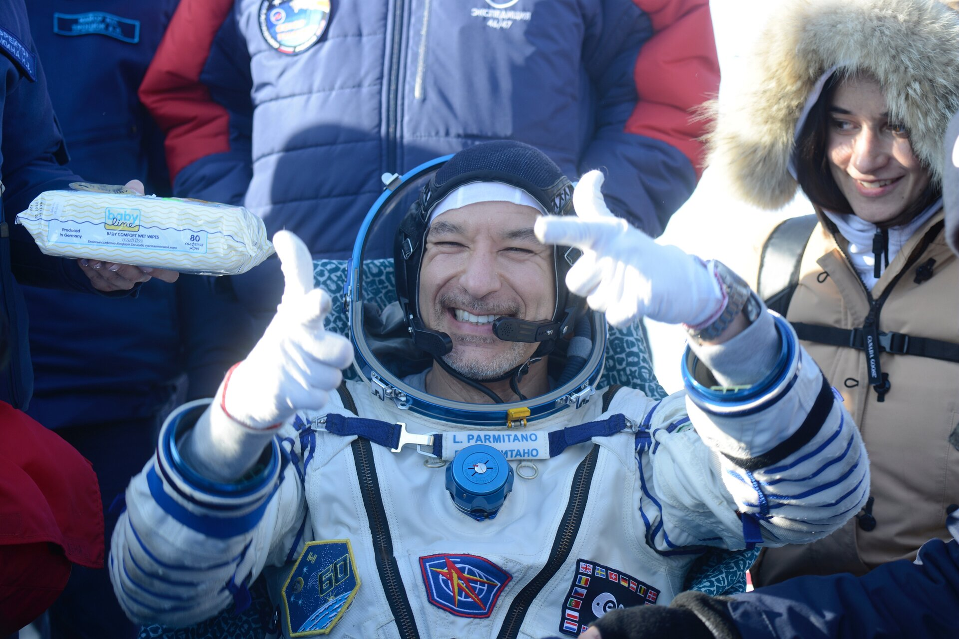 Luca Parmitano returns to Earth for second time