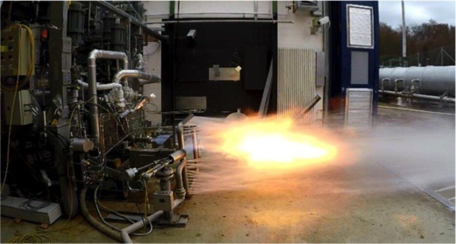 Prometheus gas generator test at DLR Lampoldshausen