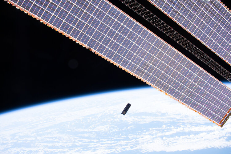 Qarman CubeSat deployed from ISS