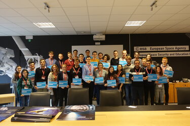 The university students received their participation certificates