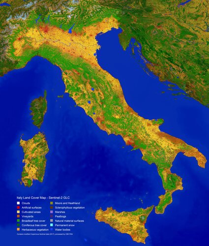 Italy's land classified