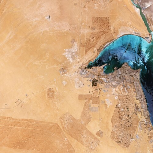 The Copernicus Sentinel-2 mission takes us over Kuwait in the Middle East.