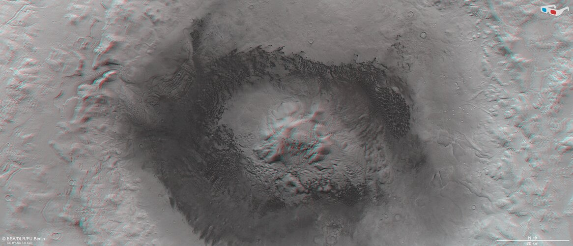 Moreux Crater in 3D