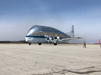 Super Guppy leaves Ohio with Artemis 1 Orion spacecraft