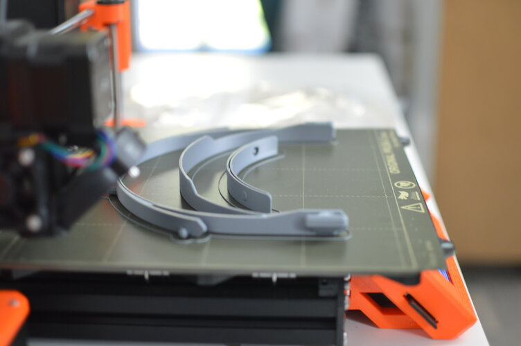 3D printer at EAC printing components for face shields