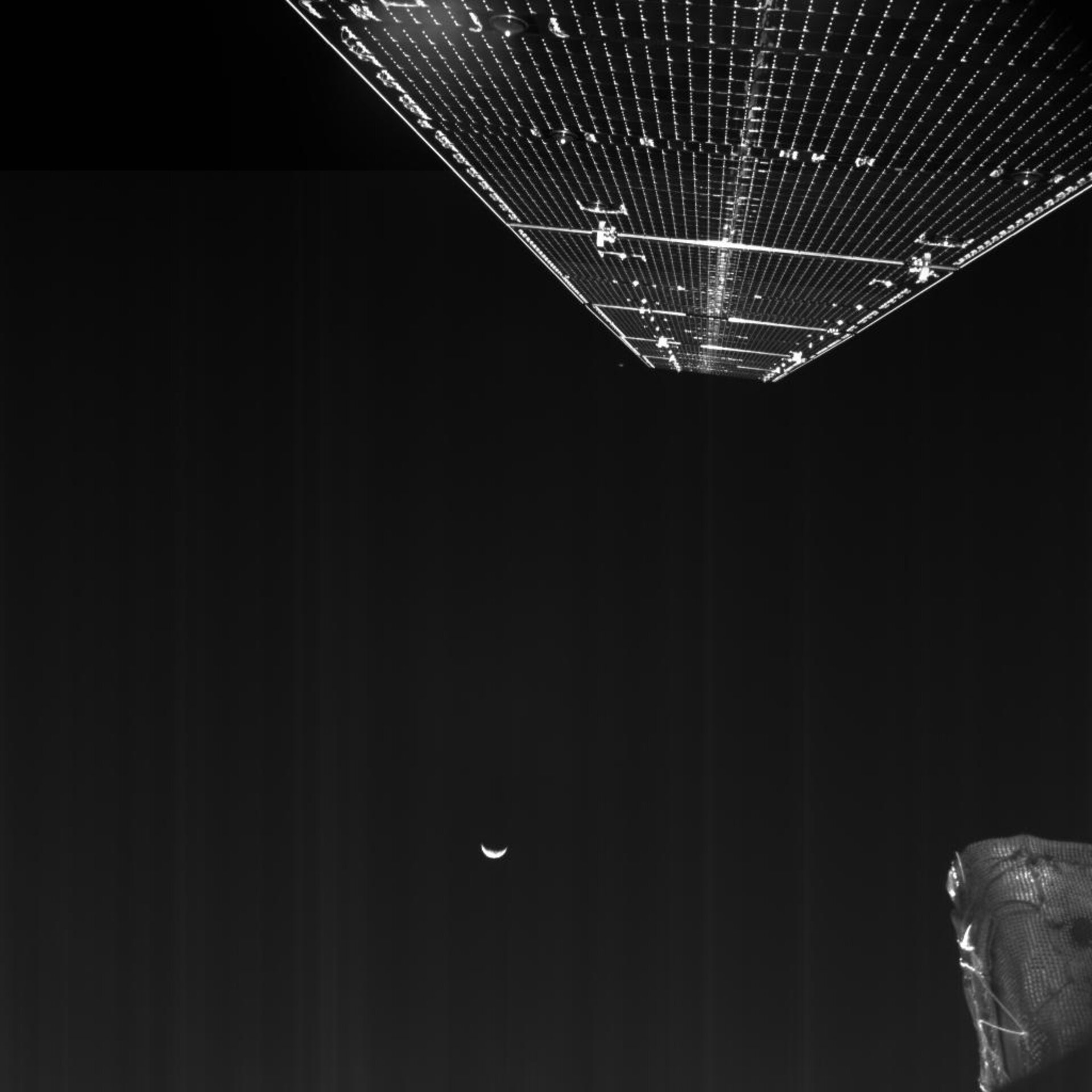 BepiColombo's final glimpses of Earth and the Moon after flyby