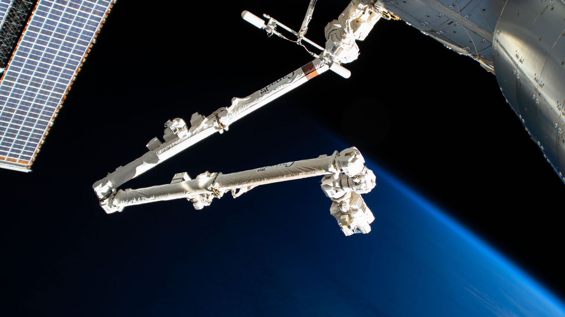 Canadarm2 robotic arm on the International Space Station
