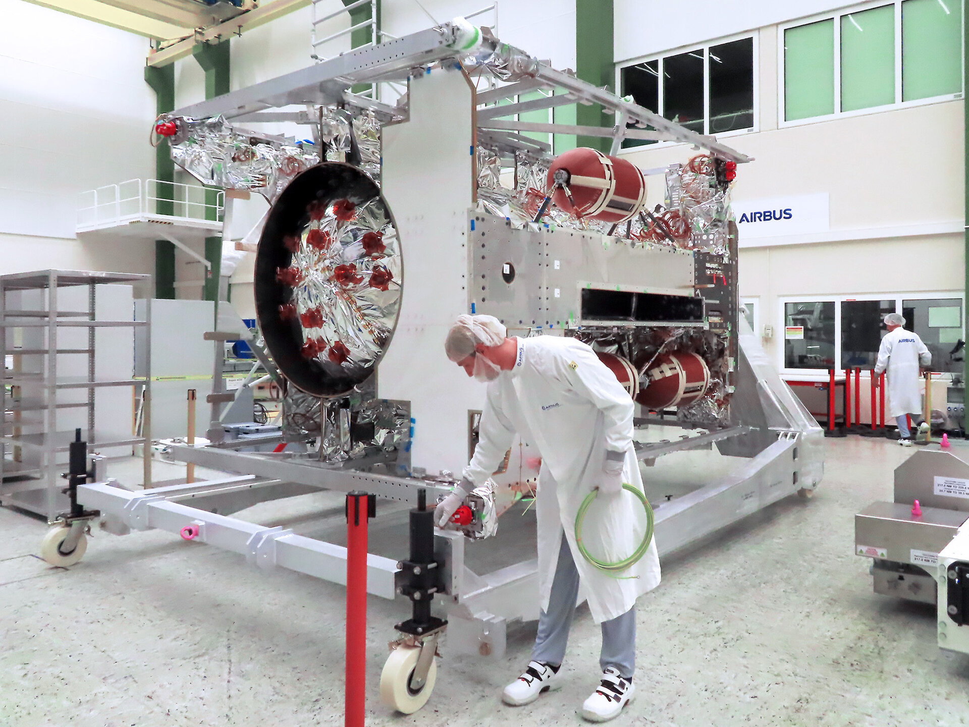 ESA's Jupiter explorer Juice at Airbus facilities in Friedrichshafen ready for final integration