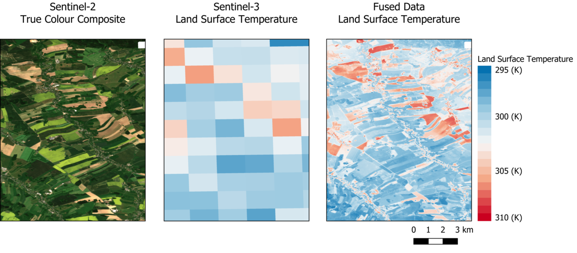High-resolution land-surface temperature