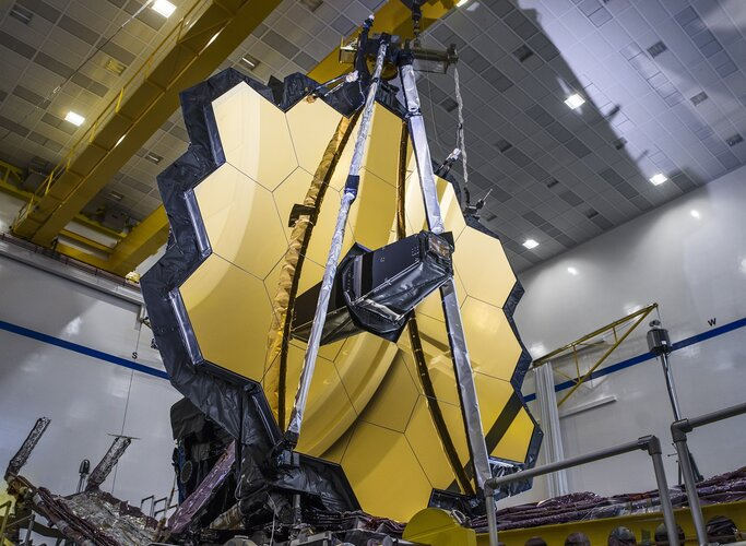 Deployment test of James Webb Space Telescope's primary mirror
