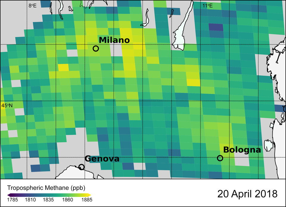 Methane in Italy's Po Valley