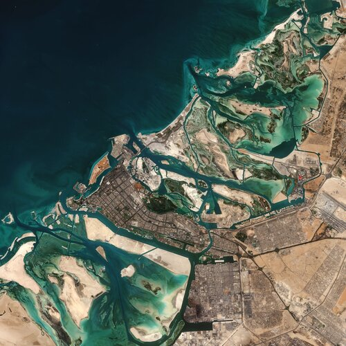 The Copernicus Sentinel-2 mission takes us over part of Abu Dhabi – one of the seven emirates that constitute the United Arab Emirates (UAE).