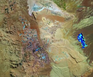 The Copernicus Sentinel-2 mission takes us over part of Chile's Atacama Desert, one of the driest places on Earth.