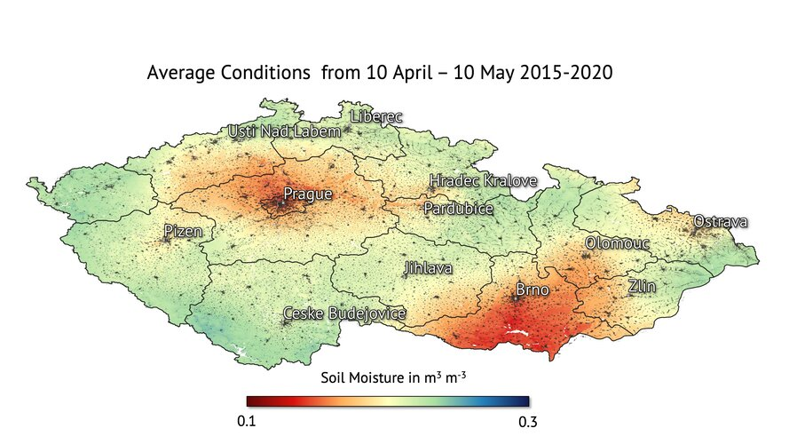 Average soil moisture conditions