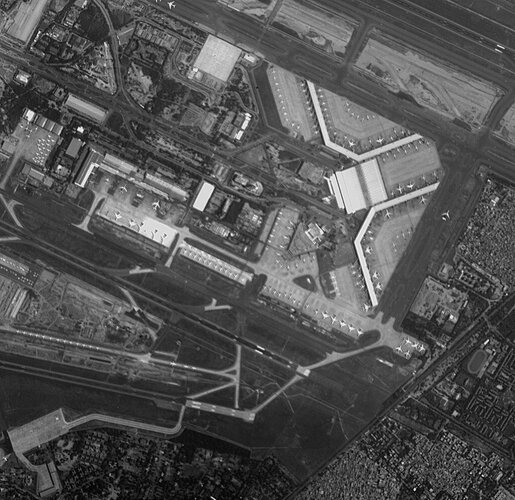 ESA's oldest Earth-observer images Delhi airport
