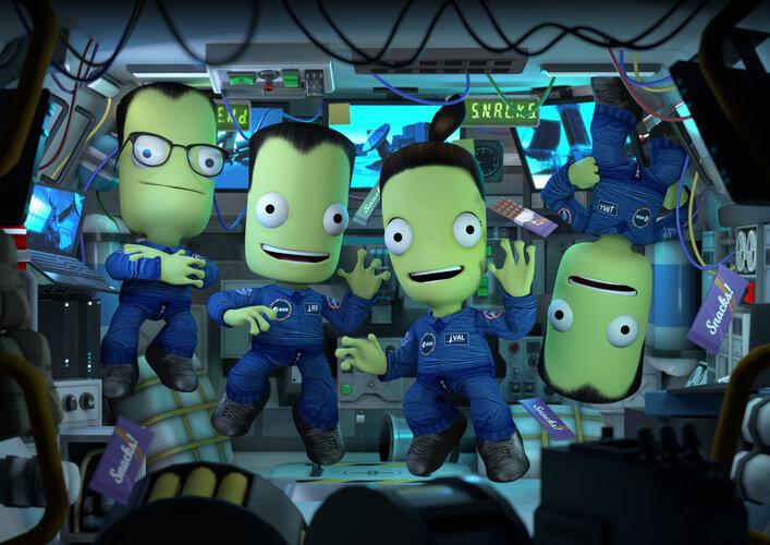 Kerbals in space