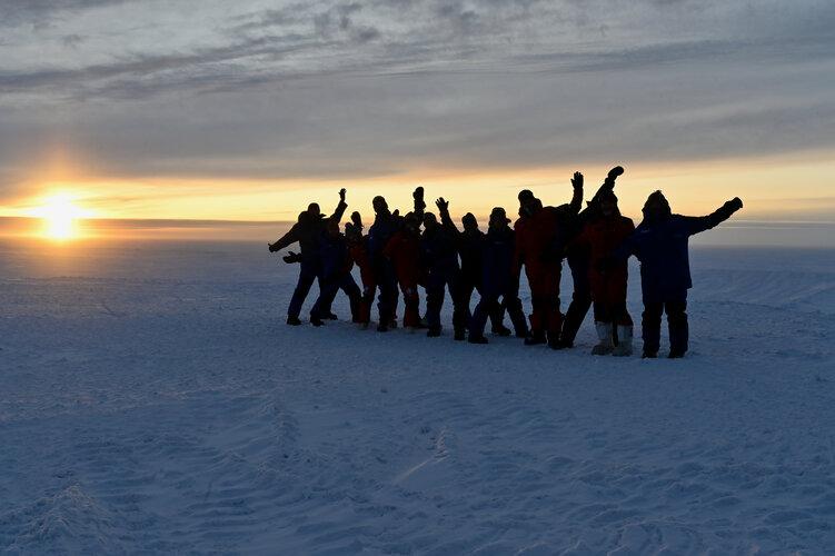 Last Antarctic sunset