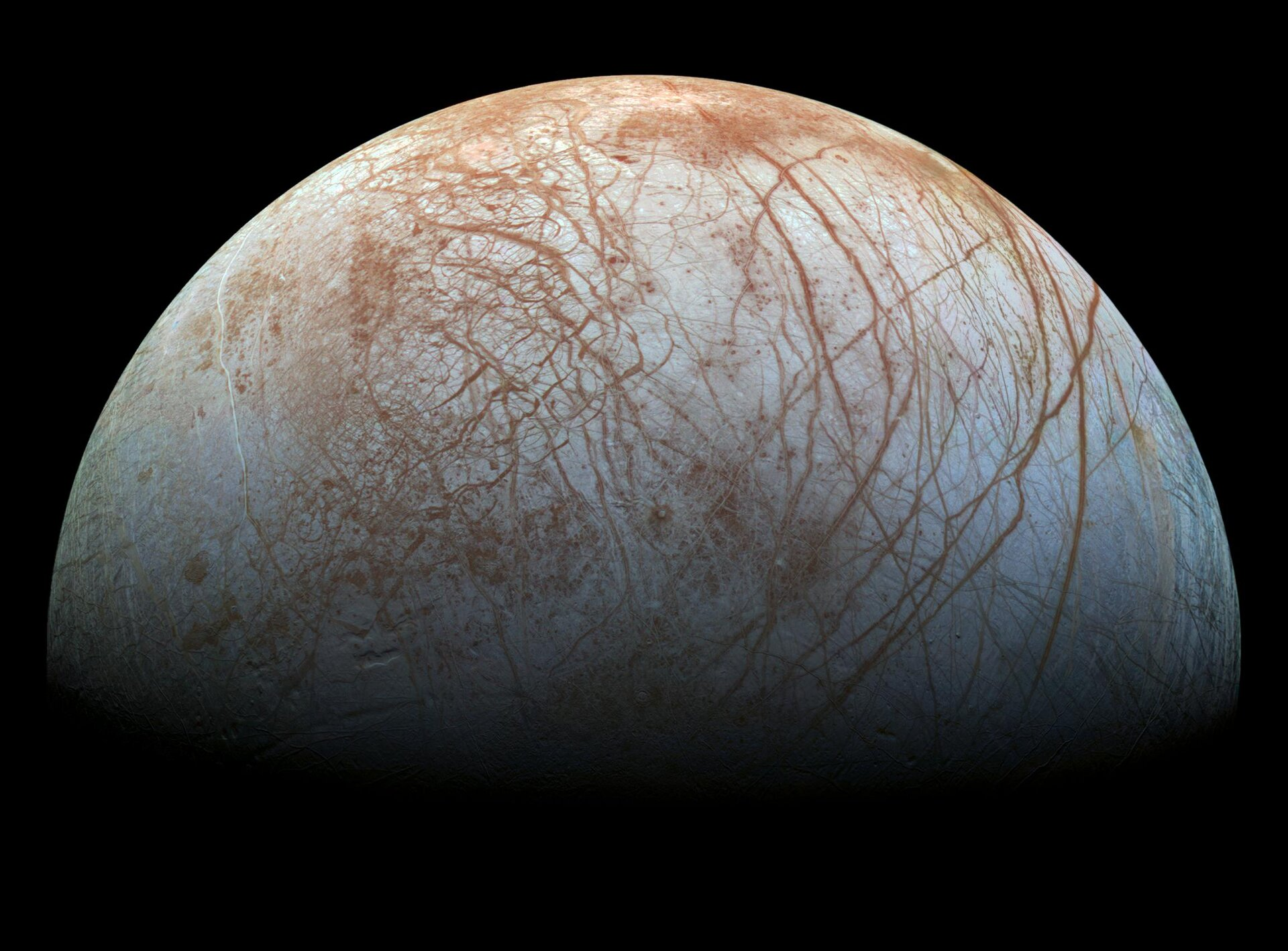 ESA - New evidence of watery plumes on Jupiter's moon Europa