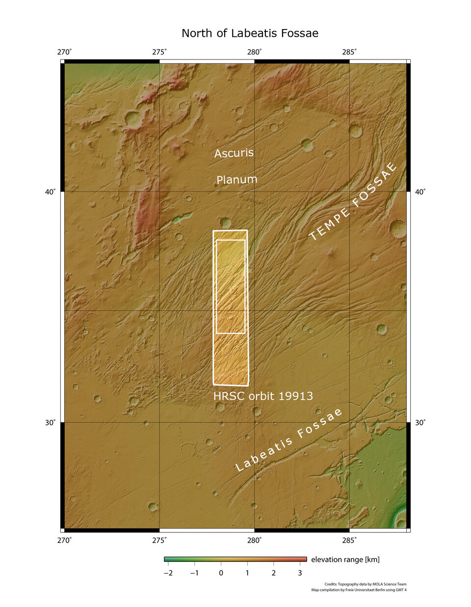 Northeast of Mars' Tharsis province: Tempe Fossae in context