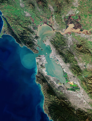 The Copernicus Sentinel-2 mission takes us over San Francisco Bay in the US state of California.