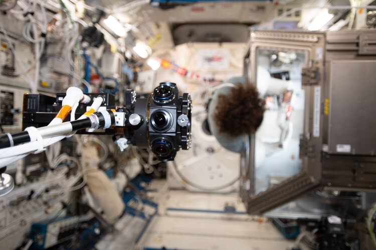 360 degree ISS Experience camera on the Space Station