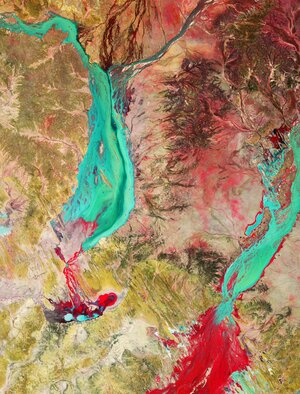 This image, captured by Copernicus Sentinel-2, takes us over part of Channel Country – a pastural region located mostly in southwest Queensland, Australia.