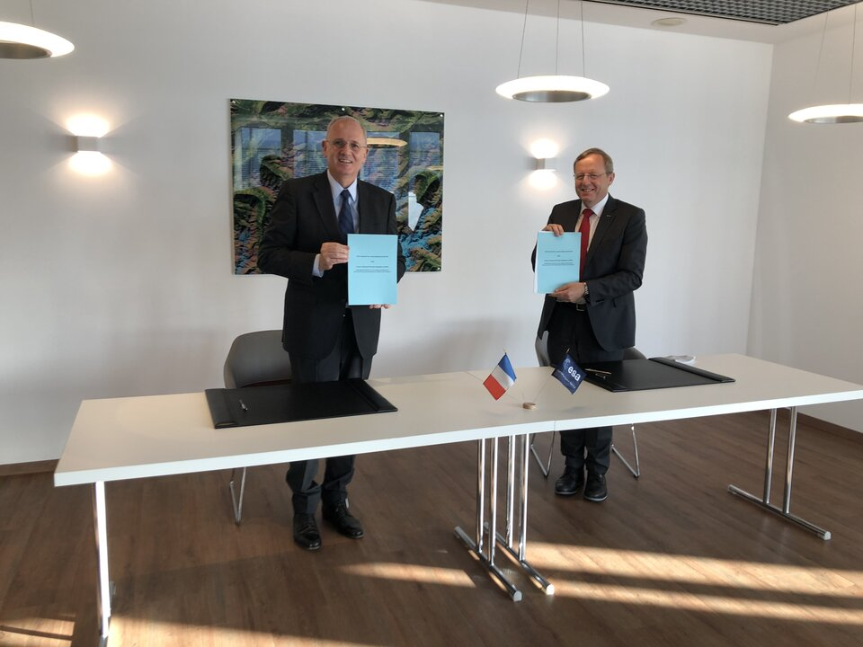ESERO France contract signing on 23 June 2020