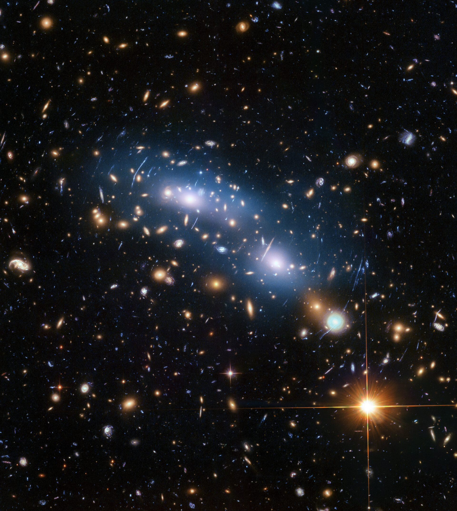 Intracluster light in galaxy cluster MACSJ0416