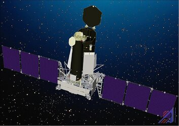 Illustration of the Spektr-RG spacecraft