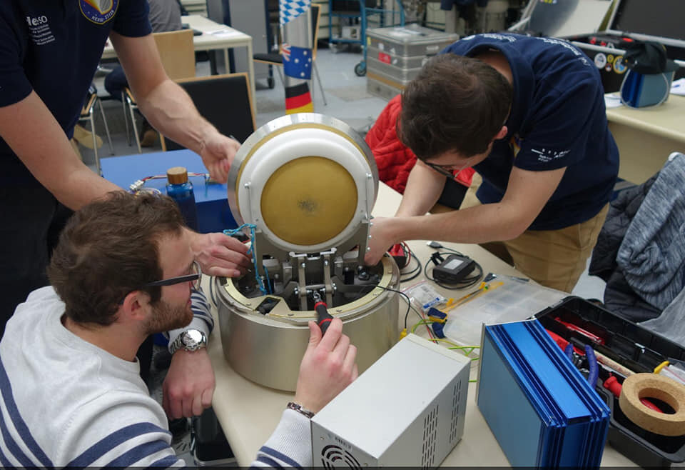 REXUS 27 HADES Team finalising the assembly of their experiment