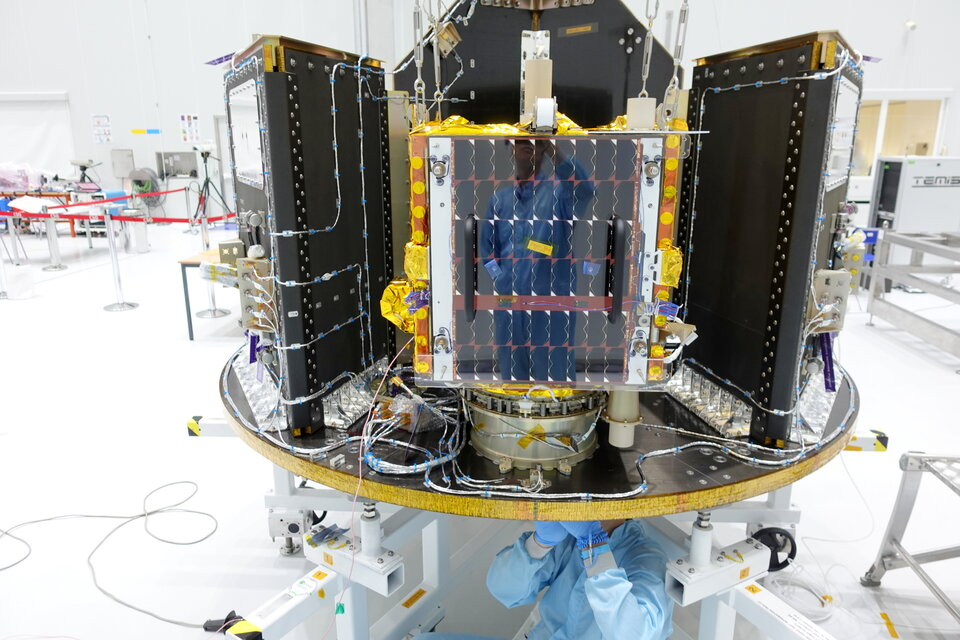 ESAIL mounted on Vega's small satellite dispenser