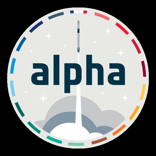 Mission patch for ESA astronaut Thomas Pesquet's Alpha mission
