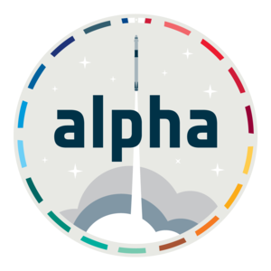 Mission patch for ESA astronaut Thomas Pesquet's Alpha mission