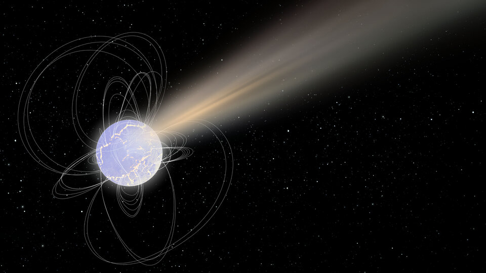 Artist's impression of the radio bursting magnetar SGR 1935+2154