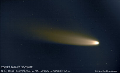 Comet NEOWISE on 12 July 2020