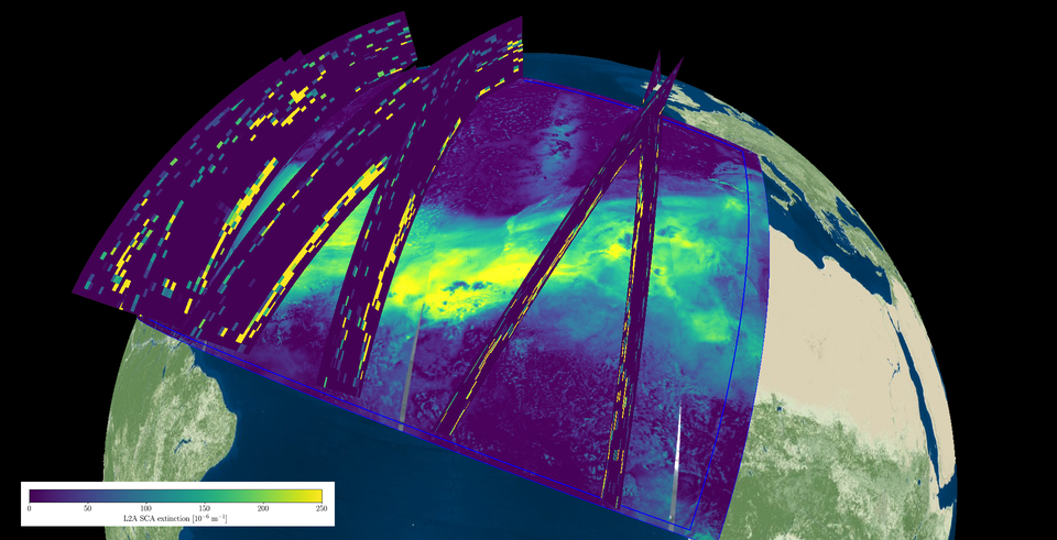 Desert dust plume over the Atlantic observed by Aeolus and Sentinel-5P